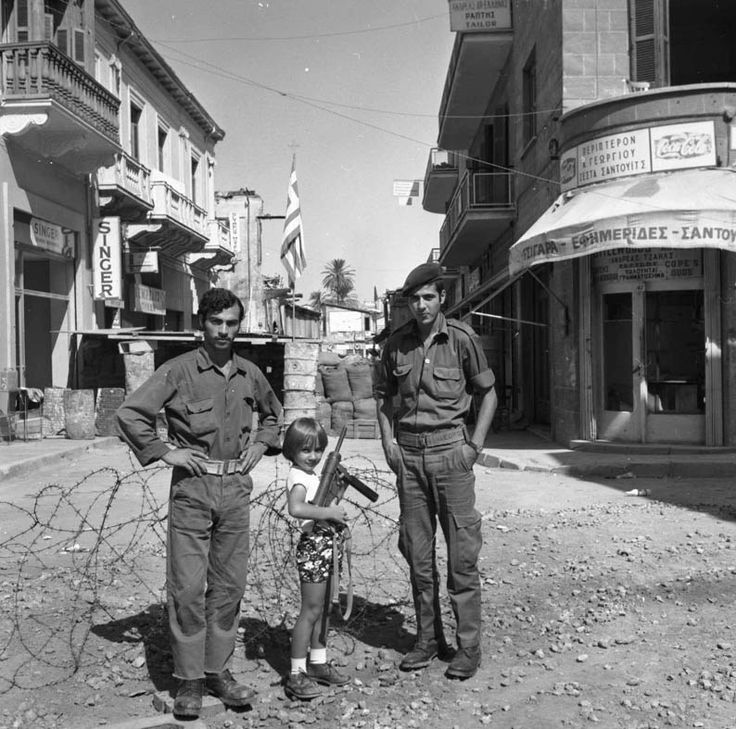 The barricades go up at the bottom of Ledra Street at end of 1963