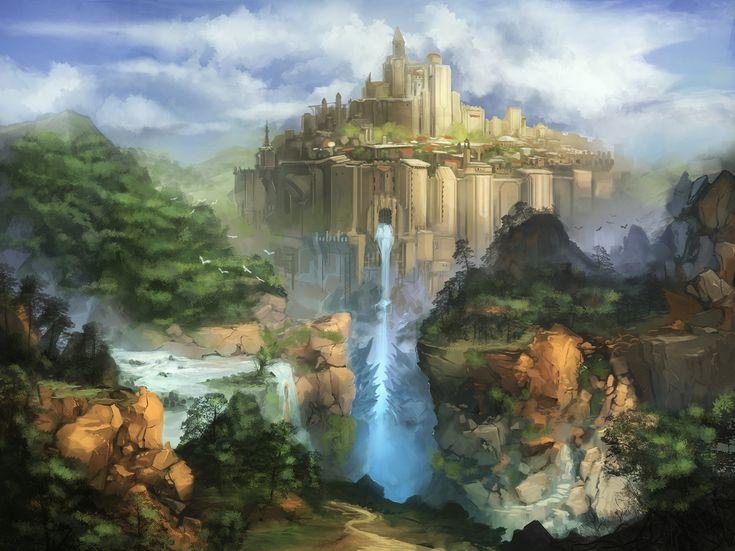 Fantasy castle by N7U2E.deviantart.com on @DeviantArt