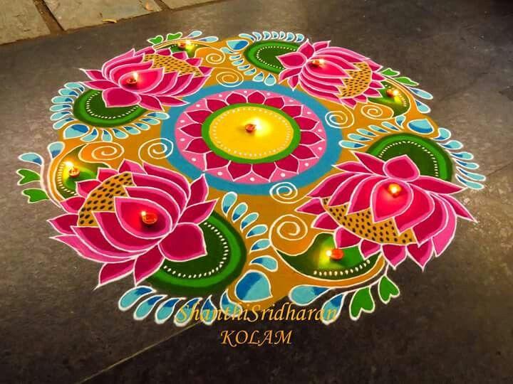 Pin by Viji Chidam on Rangoli | Pinterest | Rangoli