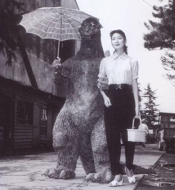 Godzilla and a friend