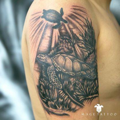 Turtle tattoo - Tatuagem tartaruga marinha