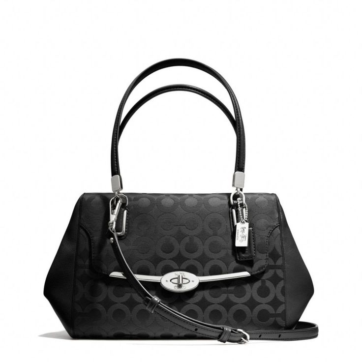 The Madison Small Madeline East/west Satchel In Op Art Sateen Fabric from Coach