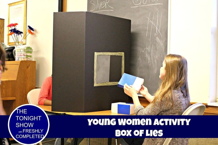Young Women Activity, Box of Lies! A simple, fun how to.