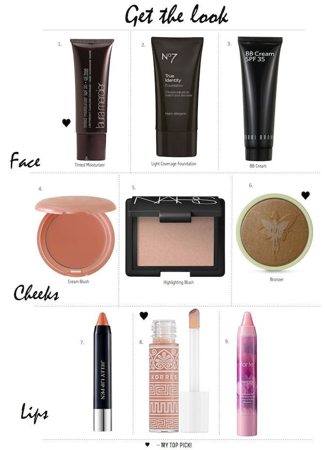 Get the Look: Barely There Makeup, perfect for hot summer days.