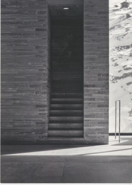 peter zumthor. the way the stairs emerge seamlessly as part of the block.