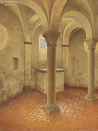 Crypt onder N.H. kerk Rinsumageest          Art Maarten't Hart