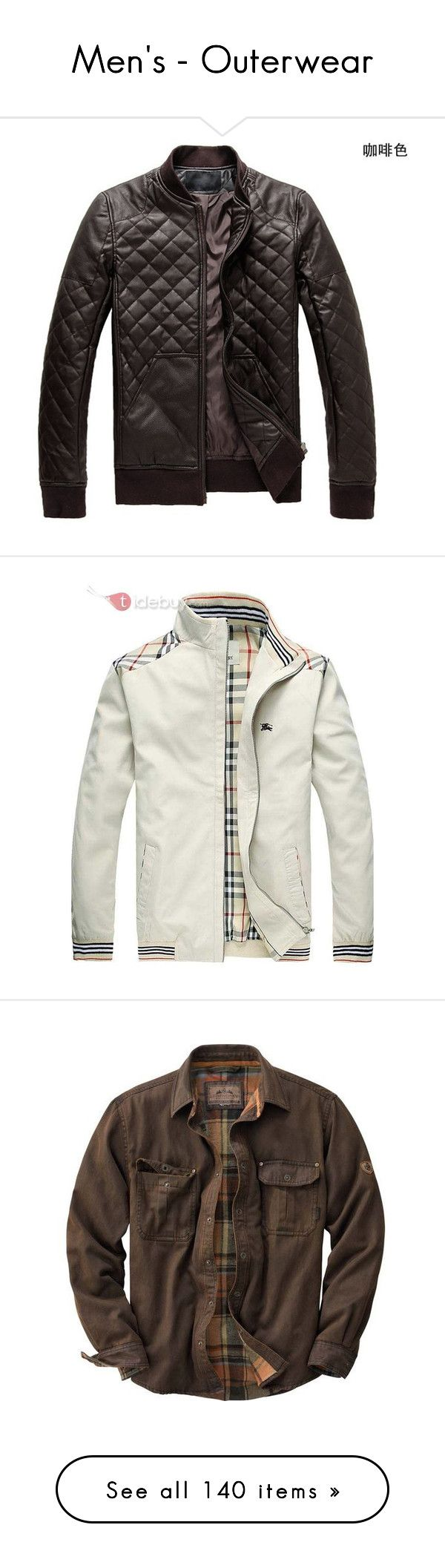 """""""Men's - Outerwear"""" by jacci0528 ❤ liked on Polyvore featuring mens, men's clothing, men's outerwear, men's coats, men, men's jackets, jackets, menswear, coats and blusas de frio masculina"""