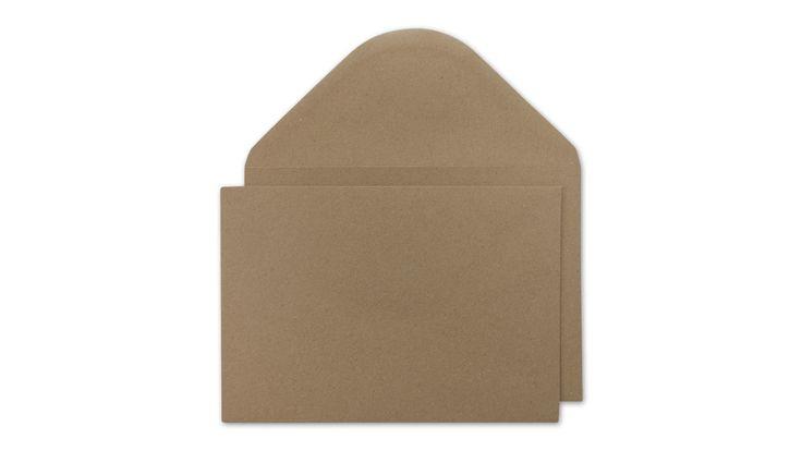 Briefumschlag C5, glatt, braun, Recyclingpapier, nassklebend