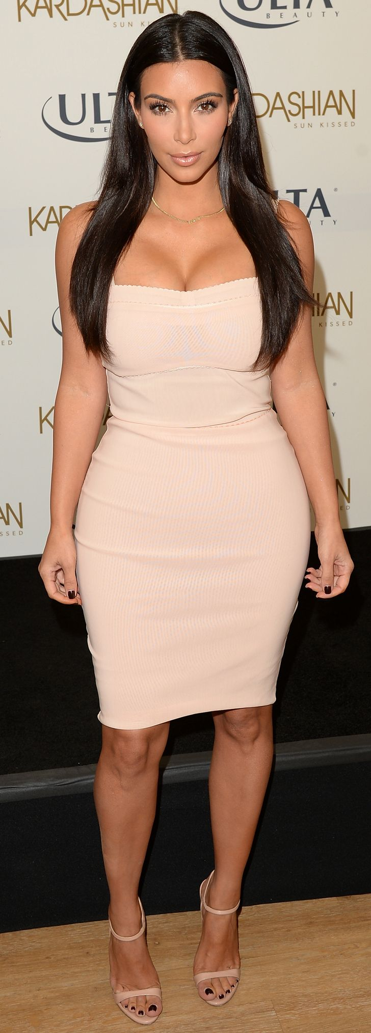 Kim Kardashian in Bec & Bridge at the Kardashian Sun Kissed Ulta Beauty event.