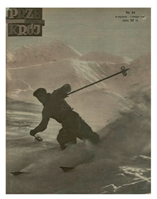Cover of Przekrój magazine. Issue dated January 26,1947.