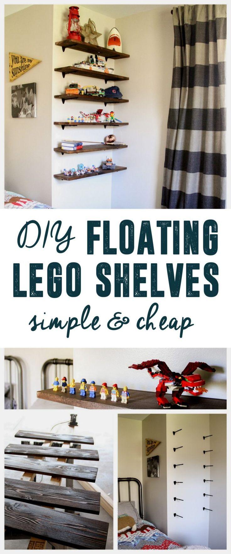 DIY Floating Lego Shelves