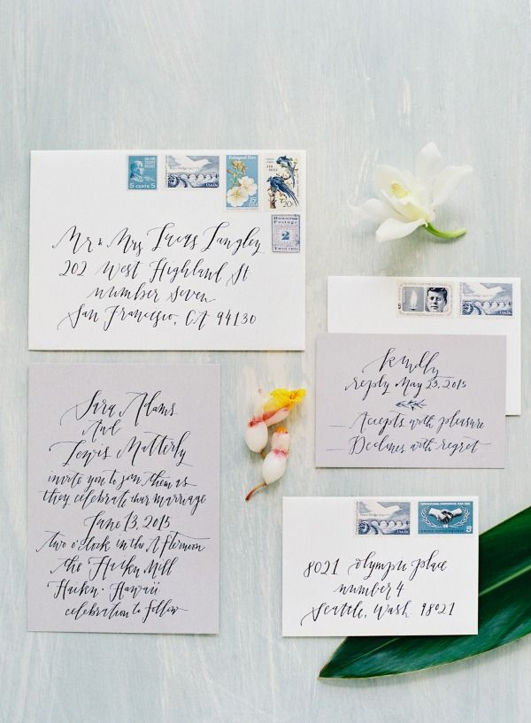 Calligraphy Invitation Suite | O'Malley Photographers on @bajanwed via @aislesociety