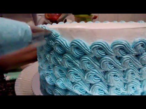 Decorando bolo com o bico 4 B (Mago) - YouTube