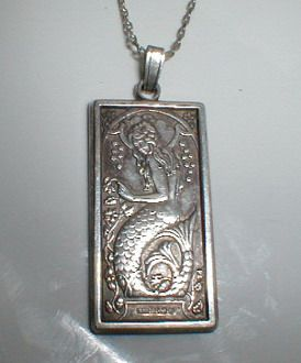 Vintage Sterling Silver Pendant with Mermaid; possible design idea