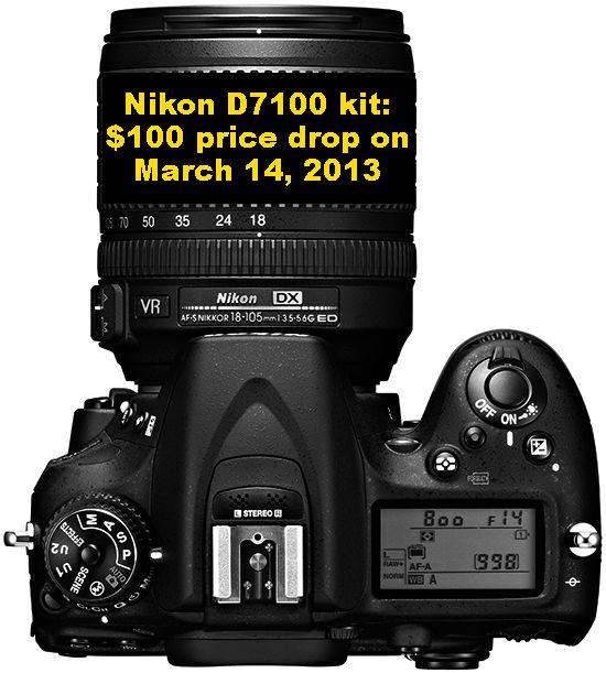 Rumors: Nikon D7100 kit price drop on March 14th
