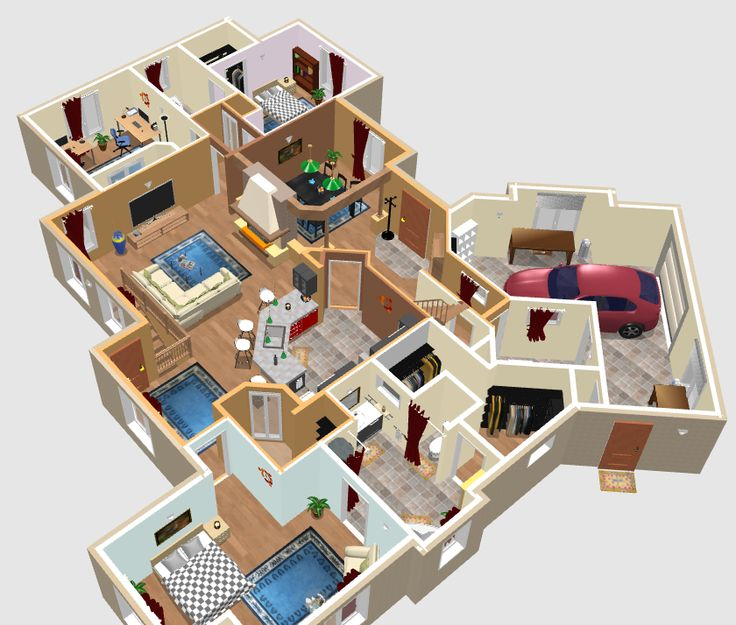 sweet home 3d plans google search house designs pinterest 3d house and future house. Black Bedroom Furniture Sets. Home Design Ideas