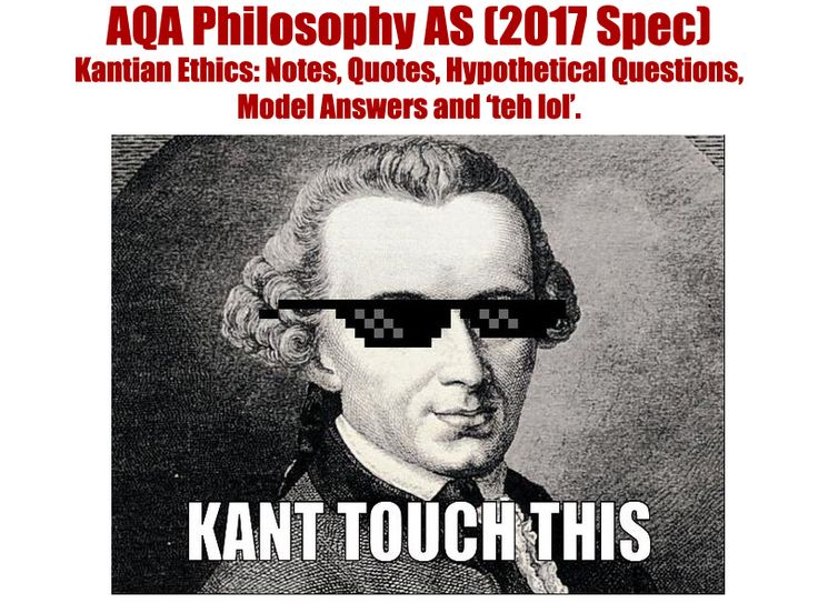 For the new AQA Philosophy specification (2017 onwards): AS-Level Ethics, dealing with Kantian Ethics.<br /> <br /> This 35+ page booklet contains:<br /> -Specification guidelines<br /> -Summary of Kant's Groundwork<br /> -Topic-by-topic Notes<br /> -Quot...