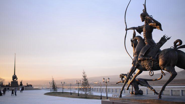 Царская охота и центр Азии, 2014 г. г.Кызыл, Республика Тыва. Бронза; литье, патинирование