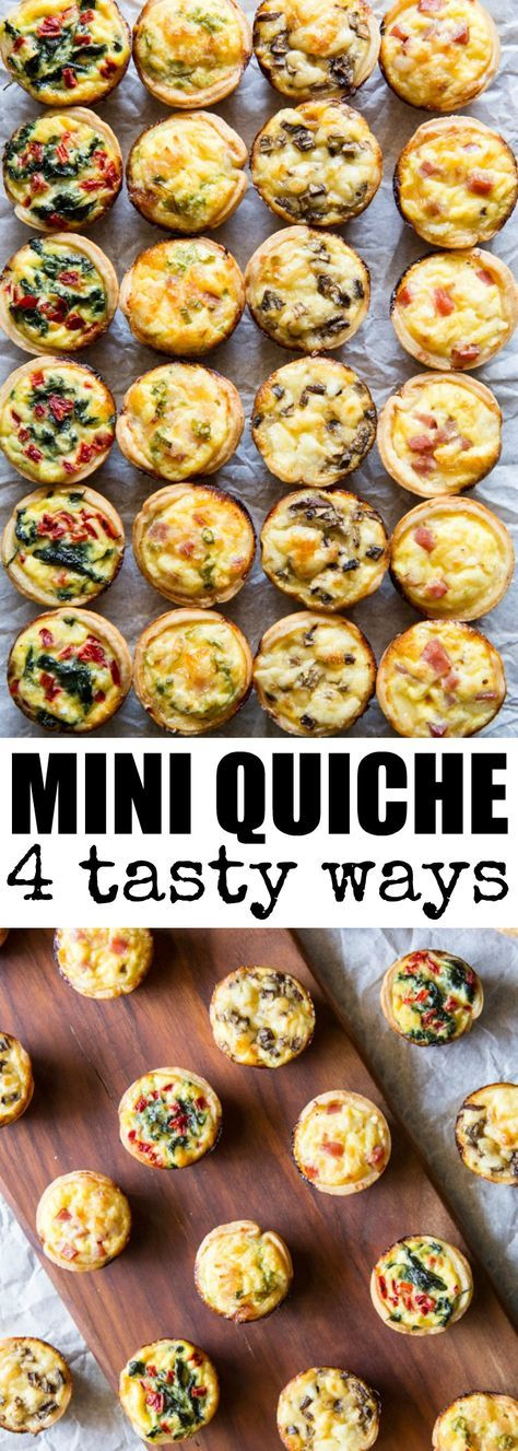 Mini Quiche 4 Ways   – Yummy