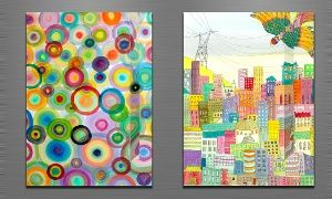Groupon - Canvas Wall Art by Sylvie Demers in [missing {{location}} value]. Groupon deal price: $32.99