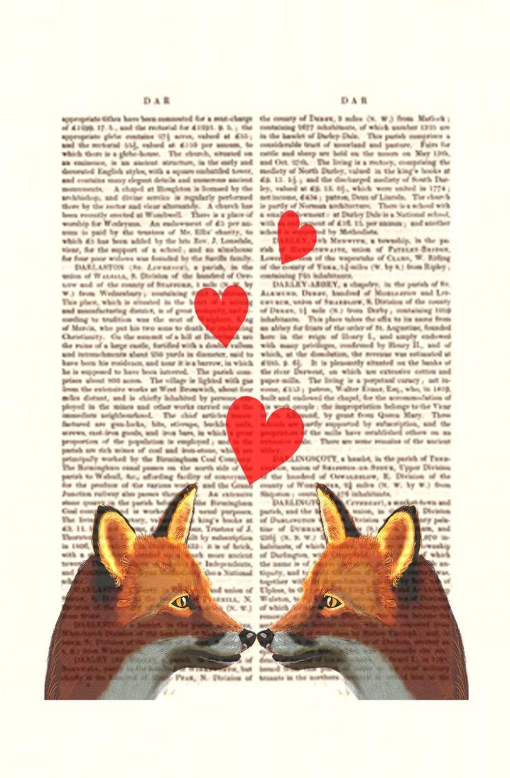 Fox Valentines Print