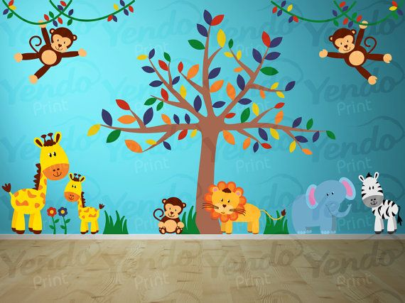 Best Wall Decals Images On Pinterest Kids Wall Decals Jungle - Kids wall decals jungle