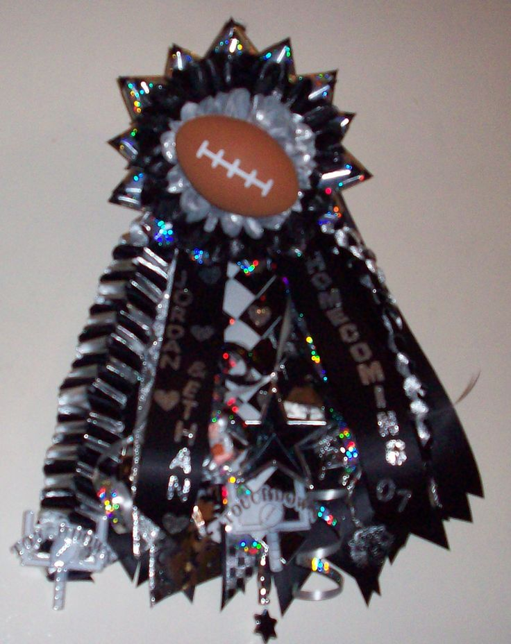 Football Garters for Homecoming | Homecoming Garters - Pilot Point Senior Garter - Special Event Floral ...