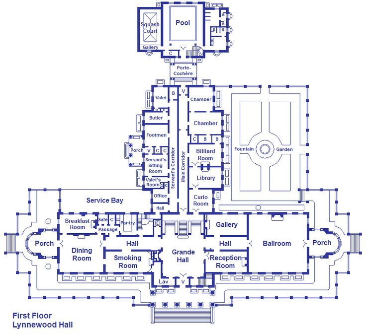 Lynnewood hall first floor by viktorkrum77 on deviantart for Versailles house floor plan
