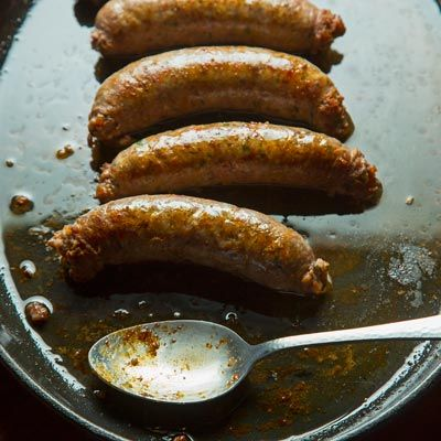 Lao Sausage recipe from Ryan Farr of San Francisco's 4505 Sausage. It's a pork sausage flavored with kaffir lime, galangal, garlic and fish sauce and you can make it with a sausage extension on the stand mixer.