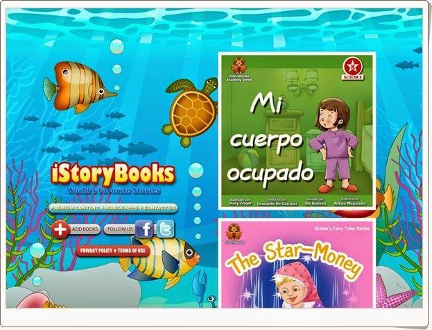 """""""iStoryBooks"""" es una página que ofrece la oportunidad de leer, ver y escuchar libros infantiles en inglés y español."""