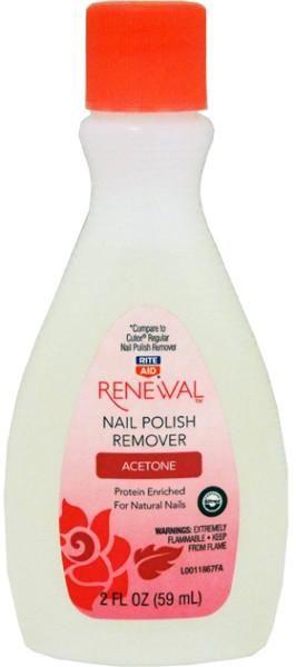 Rite Aid Renewal Acetone Nail Polish Remover 2 Ounce - 48 Units
