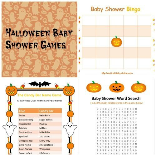 Free Printable #Halloween #Baby #Shower Games.