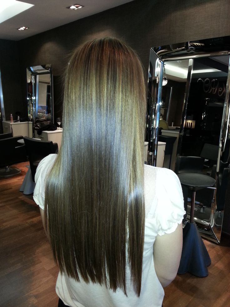 some lowlights , with a treatment, cut and style done by Rian