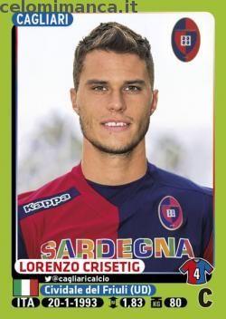 Calciatori 2014-2015: Fronte Figurina n. 44 Lorenzo Crisetig