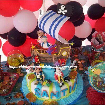Torta jake y los piratas del nunca jamas caracas for Decoracion de tortas infantiles