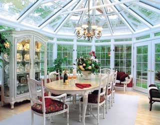 Dining Room In A Sunroom