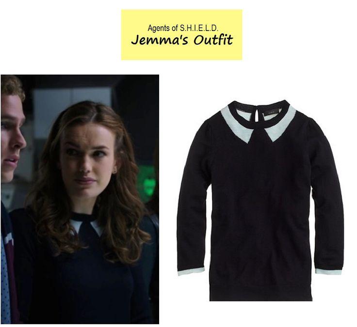 On the blog - Jemma Simmons' (Elizabeth Henstridge) navy peter pan ...