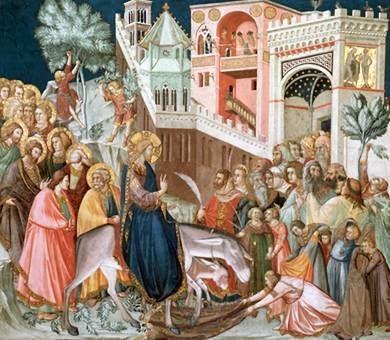 """Il simbolismo dei due asini della domenica delle Palme  """"I santi Padri ci hanno dato la chiave del mistero di questi due animali. L'asino figura il popolo giudeo sottoposto al giogo della Legge; """"il puledro sul quale - dice il Vangelo - nessuno è..."""