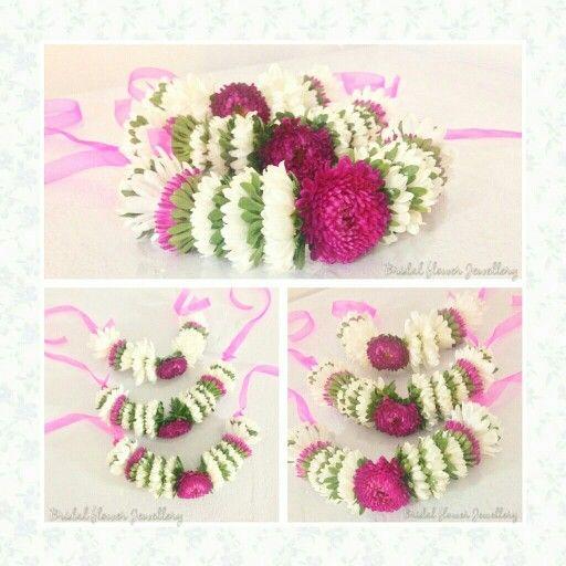 Fresh floral bangles by bridal flower jewellery www.bridalflowerjewellery.weebly.com