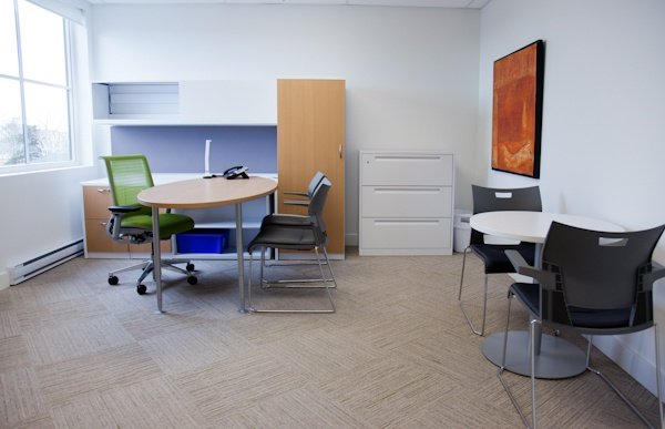 Our private offices are fully furnished in the same modern #Steelcase furniture as our entire space, includes phone, utilities, and all the platform Member perks.  I call it the icing on the cake.