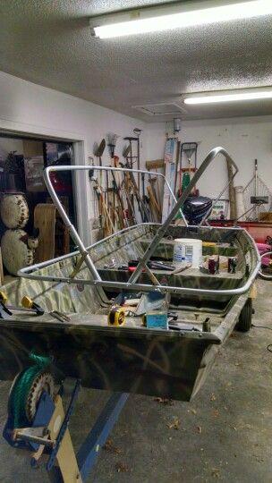 Scissor Blind Build Conduit Frame Duck Hunting Boat