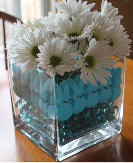 baby shower flower centerpieces for boys | Easter Centerpieces, Easter Table Decorations