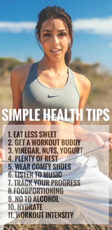 15 simple fitness and diet tips that you can work into your daily routine.