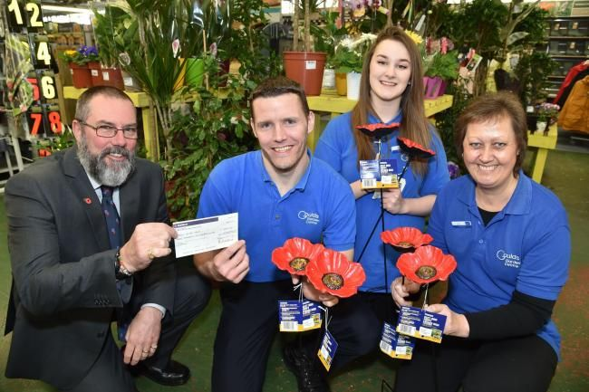 DONATION: Ian Jarvis (left) receives £3,600 for the Royal British Legion from…