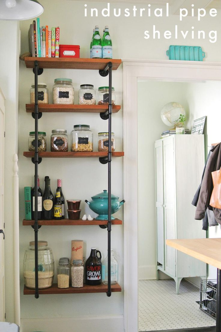 DIY Industrial Pipe Shelving with Reclaimed Wood