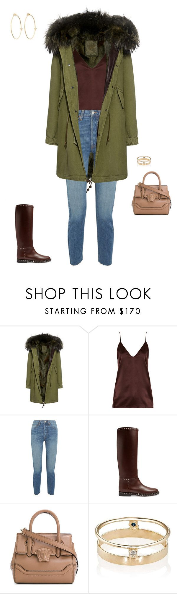 """Untitled #370"" by marcushanna ❤ liked on Polyvore featuring Mr & Mrs Italy, Raey, RE/DONE, Valentino, Versace, Loren Stewart and Jennifer Meyer Jewelry"