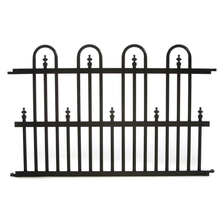 30.69 Specrail Standard Aluminum Fence Panel - Crafted from high quality aluminum that will not rust and does not require maintenance, the Specrail Standard Aluminum Fence Panel is a great addition...
