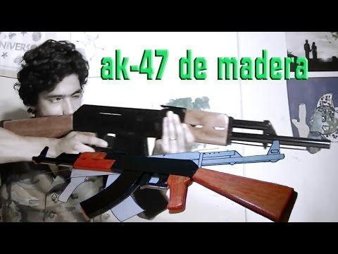 crea tu ak-47 de madera para disfraces, cortometrajes o un simple adorno :)