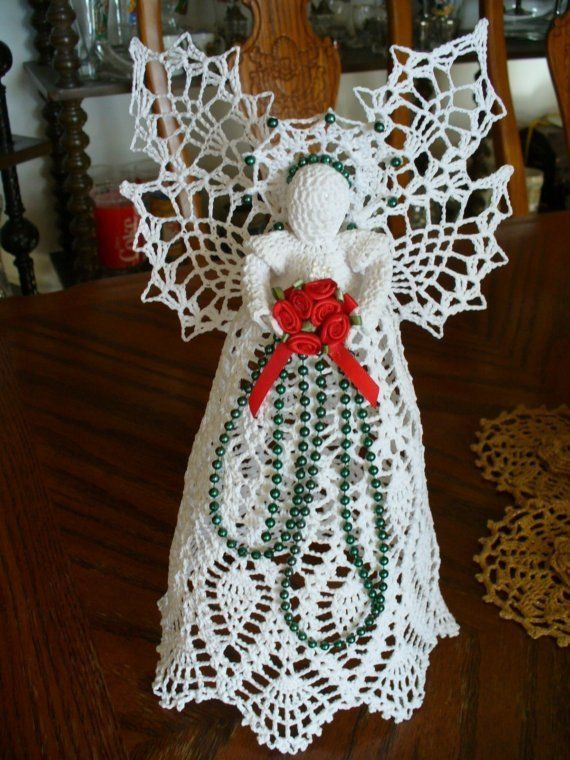 Beautiful 1 Foot Tall Angel Tree Topper Or Christmas Decoration