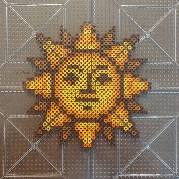 Sun mini  perler beads by essimdesigns                              …